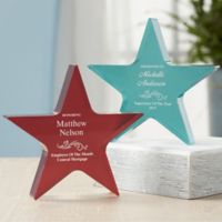 Reflections of Excellence Personalized Colored Star Award