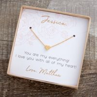 Classic Romance Gold Infinity Necklace With Personalized Display Card