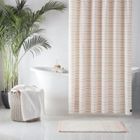 UGG® Lena Striped 54-Inch x 78-Inch Shower Curtain in Pink