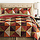 Triangle Full/Queen Quilt in Rust