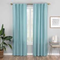 Vaughan 84-Inch Rod Pocket/Back Tab Window Curtain Panel in Aqua