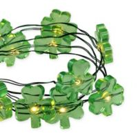 Northlight 18-Light LED Battery Operated St. Patrick Light Set in Green