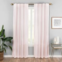 Vaughan 63-Inch Rod Pocket/Back Tab Window Curtain Panel in Blush