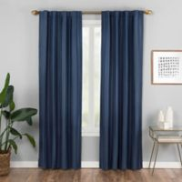 Vaughan 63-Inch Rod Pocket/Back Tab Window Curtain Panel in Blue