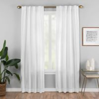 Vaughan 63-Inch Rod Pocket/Back Tab Window Curtain Panel in White