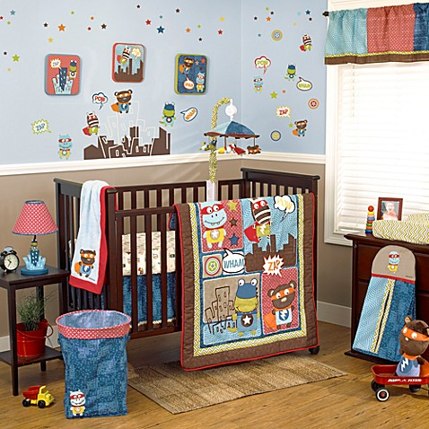 CoCaLo® Super Hero Pals 4-Piece Crib Bedding Set