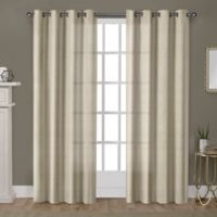 Winfield 84-Inch Grommet Light-Filtering Window Curtain Panel Pair in Gold