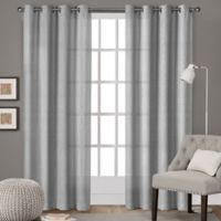Winfield 84-Inch Grommet Light-Filtering Window Curtain Panel Pair in Silver
