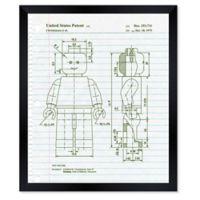 Oliver Gal™ Lets Go Notebook Blueprint Paper Framed Print in White