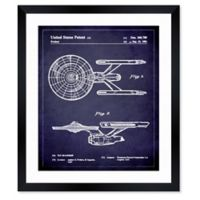 Oliver Gal™ Enterprise 1981 Blueprint Paper Framed Print in White