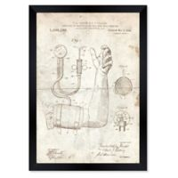Oliver Gal™ Apparatus For Blood Pressure Paper Framed Print in Tan