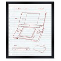 Oliver Gal™ Newest Tech Notebook Blueprint Paper Framed Print in White