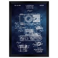 Oliver Gal™ Kupenbender Camera 1936 Paper Framed Print in Blue