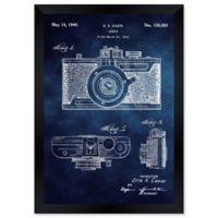 Oliver Gal™ Cazin Design For A Camera 1940 Paper Framed Print in Blue