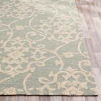 Surya Rain Medallion 2'6 x 8' Hand-Hooked Indoor/Outdoor Area Rug in Green