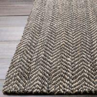 Surya Reeds 2' x 3' Hand-Woven Area Rug in Eggplant/Cream