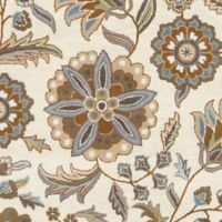 Surya Athena Floral Botanical 2'6 x 8' Hand Tufted Runner in Blue