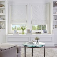 Damask Cordless Roman 27-Inch x 64-Inch Shade in Ivory
