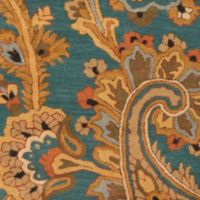 Surya Sea Floral 2'6 x 8' Hand Tufted Runner in Blue/Brown