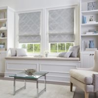 Damask Cordless Roman 27-Inch x 64-Inch Shade in Silver