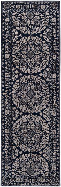 Surya Smithsonian 2'6 x 8' Hand-Tufted Area Rug in Blue/Grey