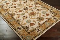 Surya Caesar Classic Hand-Tufted 2'6 x 8' Area Rug in Khaki/Tan