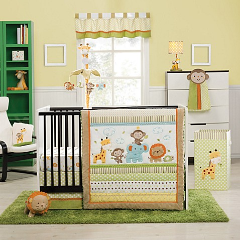 kidsline™ Safari Party 4-Piece Crib Bedding Set
