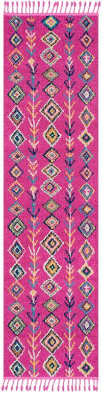 Surya Love 2'7 x 10' Runner in Bright Pink/Khaki