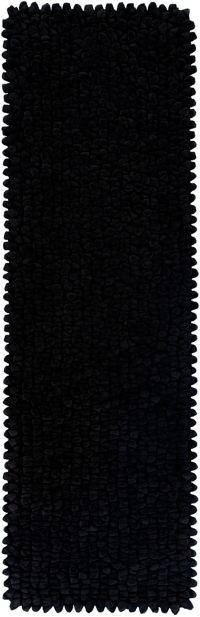 Surya Nestle Shag 8' Runner in Black