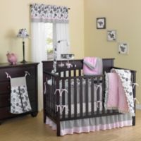 New Country Home Laugh, Giggle & Smile Versailles Pink Minky Plush 10-Piece Crib Bedding Set