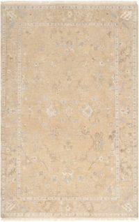 Surya Transcendant 2' x 3' Hand Knotted Accent Rug in Beige/Khaki