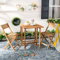 Safavieh Gallo Teak Wood 3-Piece Bistro Set