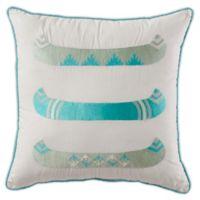 Pendleton Spider Rock Canoe Square Throw Pillow in Aqua