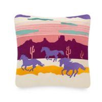 Pendleton Spider Rock Ponies Square Throw Pillow in Magenta