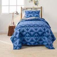 Pendleton Spider Rock 3-Piece Reversible Full/Queen Coverlet Set in Blue