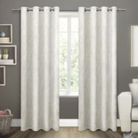 Twig Grommet Room Darkening Window Curtain Panel Pair in Vanilla