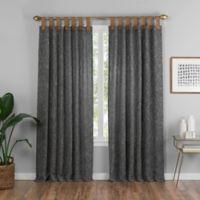 Torrington 84-Inch Top Tab Room Darkening Window Curtain Panel in Charcoal