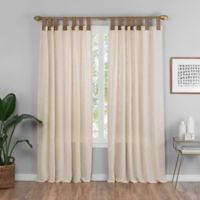 Torrington 63-Inch Top Tab Room Darkening Window Curtain Panel in Natural