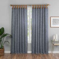 Torrington 84-Inch Top Tab Room Darkening Window Curtain Panel in Slate