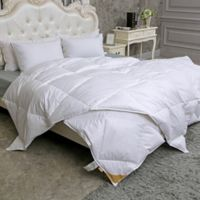 Puredown 233-Thread-Count Light Warmth Goose Down King Comforter in White