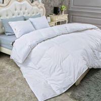 Puredown Light Warmth Down King Comforter in White