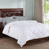 Peace Nest Doby Stripe Down Alternative King Comforter in White