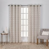Cressy 108-Inch Grommet Window Curtain Panel Pair in Linen