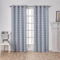 Cressy 108-Inch Grommet Window Curtain Panel Pair in Steel Blue