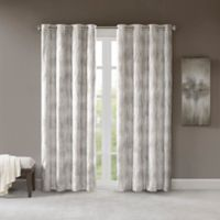 SunSmart Victorio Grommet Top 84-Inch Window Curtain Panel in Grey