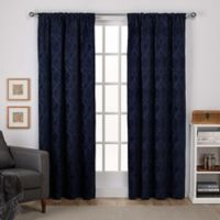 Elena 108-Inch Rod Pocket Window Curtain Panel Pair in Indigo