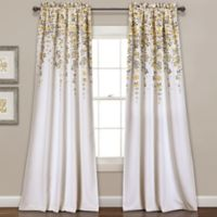 Weeping Flower 95-Inch Rod Pocket Window Curtain Panel Pair in Yellow
