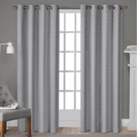 Whitby 96-Inch Grommet Top Window Curtain Panel Pair in Silver
