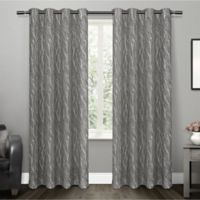 Oakdale 84-Inch Grommet Top Window Curtain Panel Pair in Black Pearl