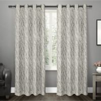 Oakdale 84-Inch Grommet Top Window Curtain Panel Pair in Dove Grey
